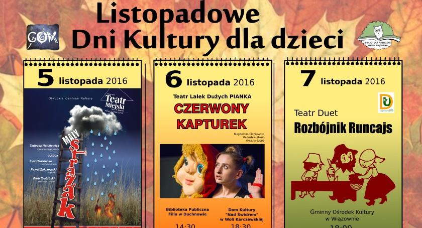 Teatr - spektakle, Listopadowe Kultury Dzieci - zdjęcie, fotografia