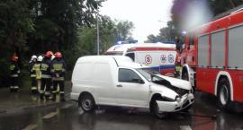 Pijany kierowca wjechał w samochód którym podróżowały dzieci